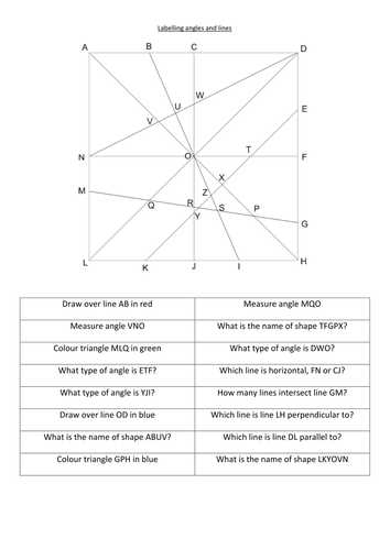 Angles On A Straight Line Worksheet Along with Identify and Label Angles and Lengths by Fionaryan88 Teaching