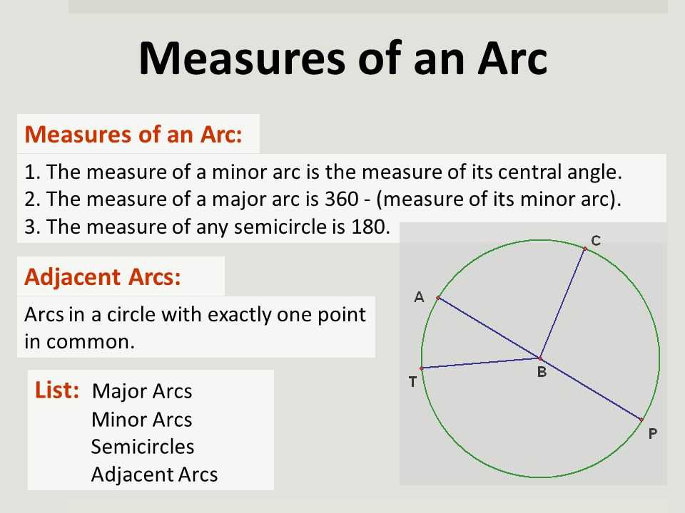 Arc Measure and Arc Length Worksheet with Unit 4 Arcs and Chords Keystone Geometry Ppt Video Online