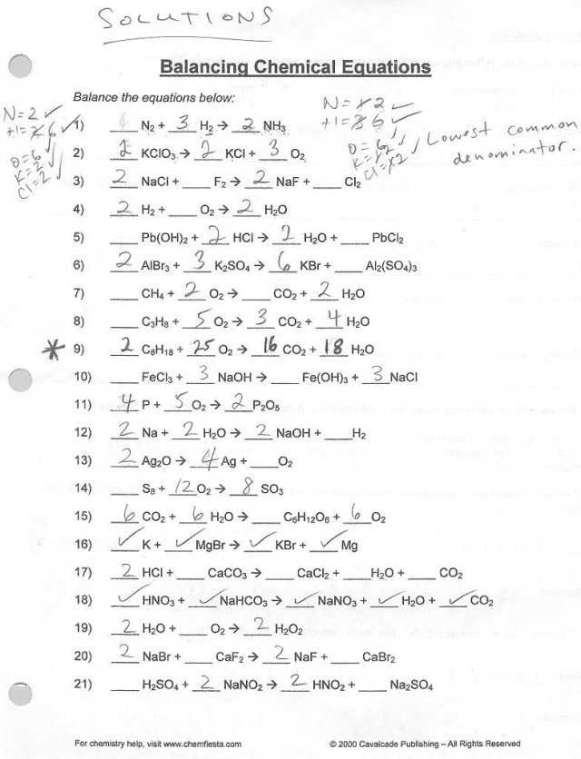 Balancing Chemical Equations Worksheet as Well as Balancing Chemical Equations Worksheet Key the Best Worksheets Image