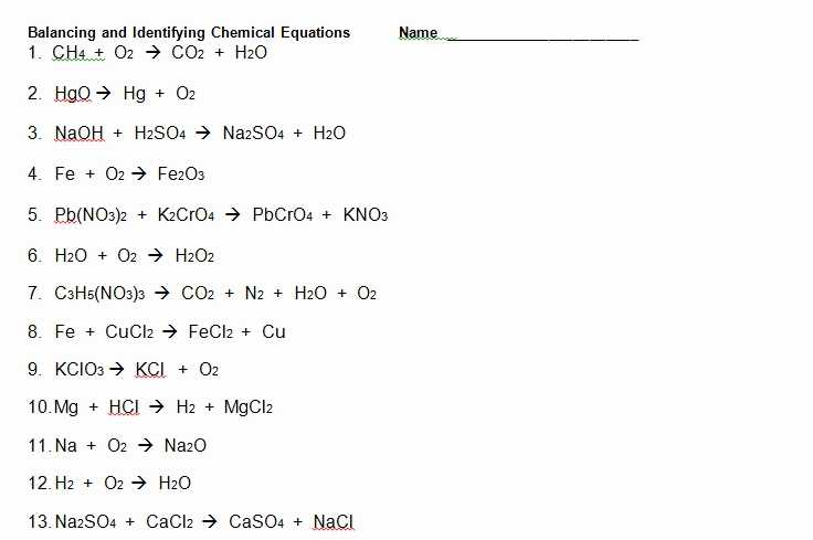 Balancing Chemical Equations Worksheet Pdf and Phet Balancing Chemical Equations Answers Lovely Balancing Chemical