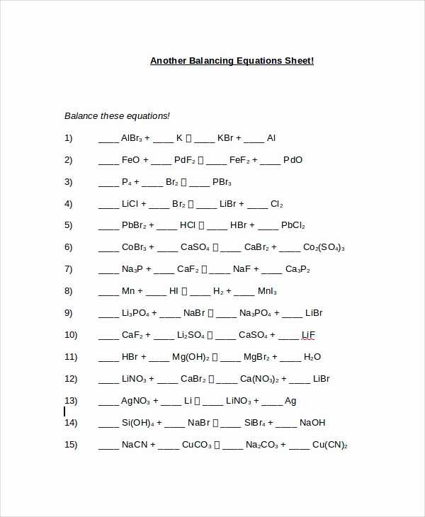 Balancing Chemical Equations Worksheet Pdf with Phet Balancing Chemical Equations Answers Lovely Balancing Chemical