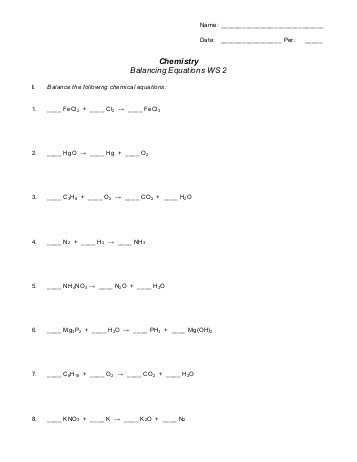 Balancing Equations Worksheet Pdf together with Chapter 9 Balancing Equations Jflaherty1 Kleinisd