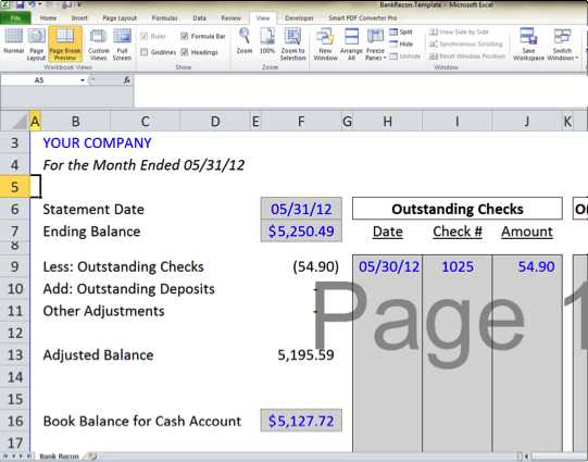 Bank Reconciliation Worksheet and Bank Reconciliation Template 5 Easy Steps to Balance Your Accounts
