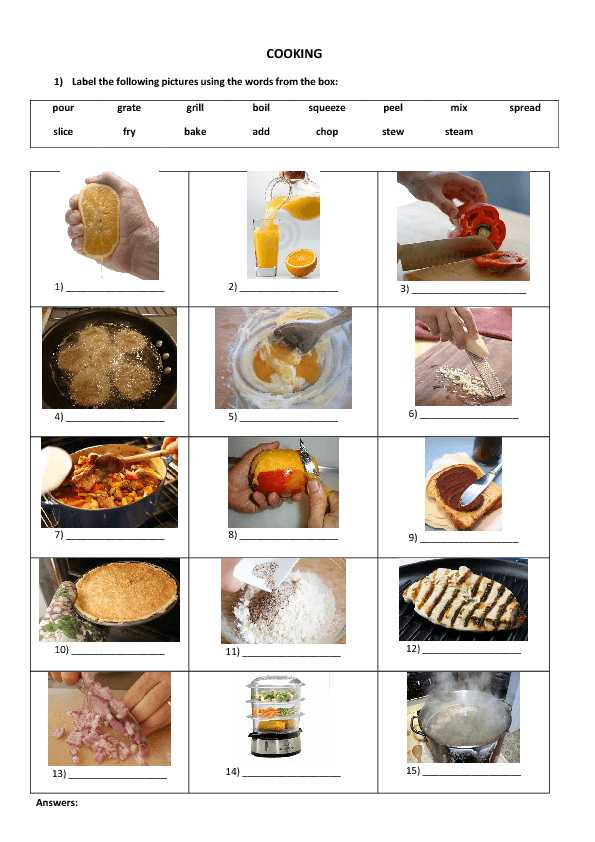Basic Cooking Terms Worksheet together with Cooking Terms Worksheet the Best Worksheets Image Collection