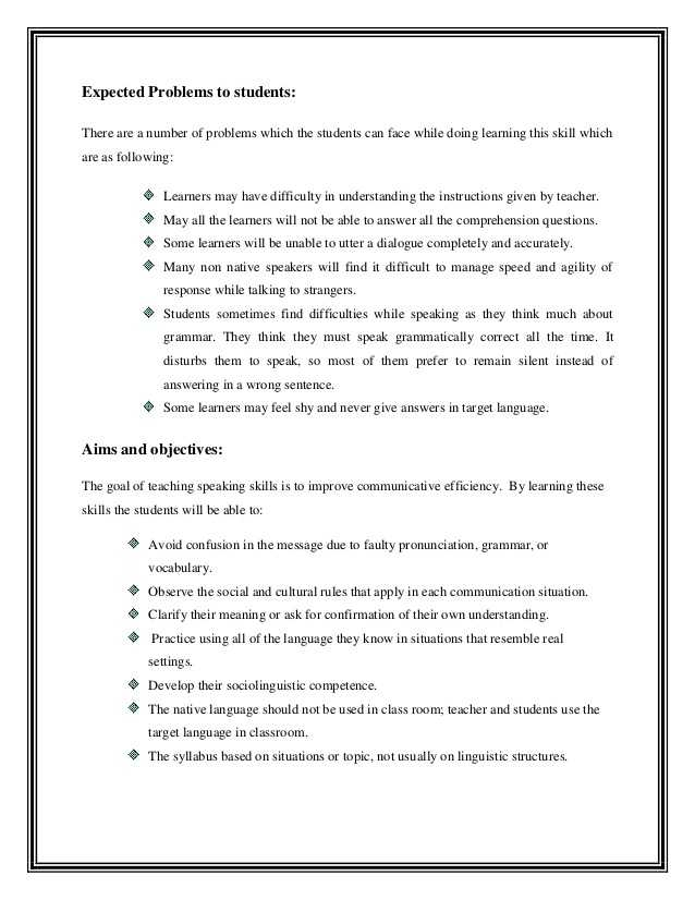 Basic Skills English Worksheets Also Lesson Plan for Speaking Skills