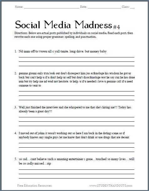 Basic Skills English Worksheets or Capitalization Rules Worksheets High School