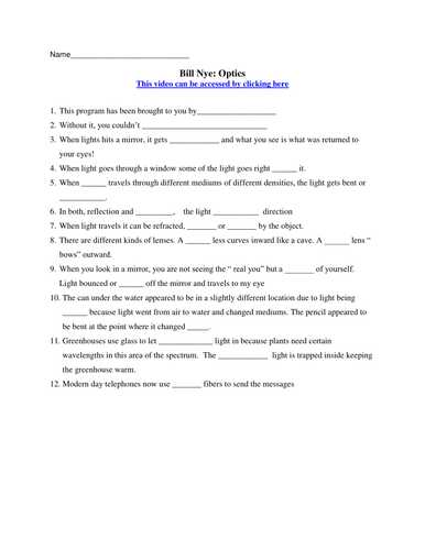 Bill Nye Plants Worksheet Answers Also Free Bill Nye Static Electricity Worksheet