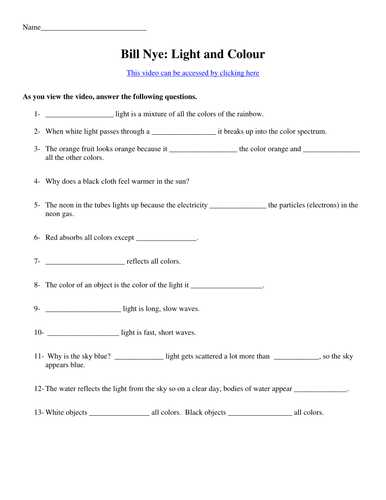 Bill Nye the Science Guy Energy Worksheet Answers with Bill Nye the Science Guy Electricity Worksheet Answers