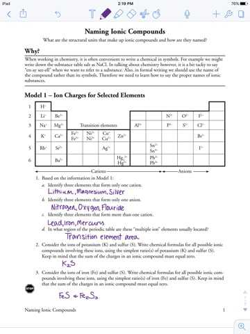 Binary Ionic Compounds Worksheet and Naming Ionic Pounds Worksheet Pogil Kidz Activities