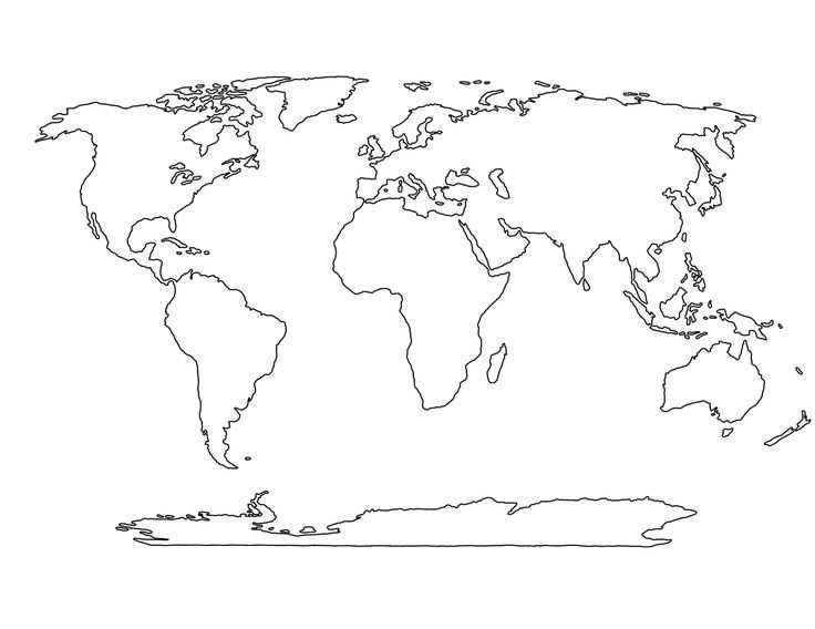 Blank World Map Worksheet Pdf as Well as World Map Template for the Home Pinterest