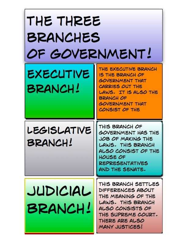 Branches Of Government for Kids Worksheet Also 65 Best Fifth Grade Government Unit Images On Pinterest