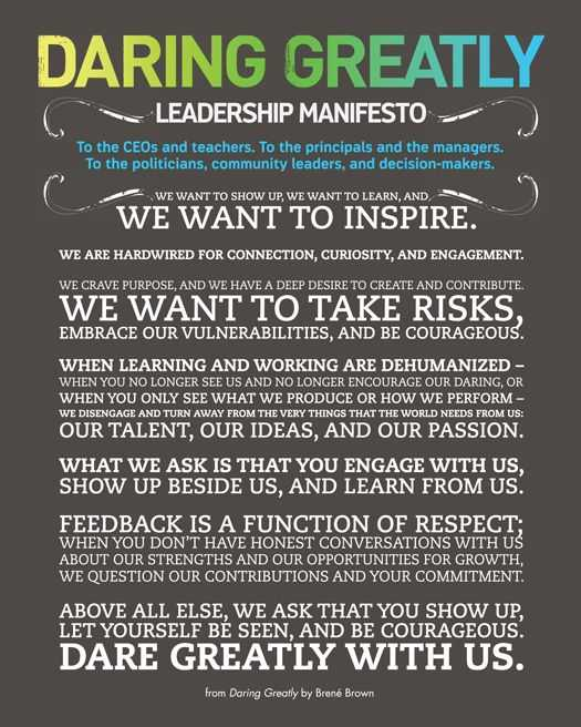 Brene Brown Worksheets with Leadership and the Fear Of Innovation — A Call to School Principals