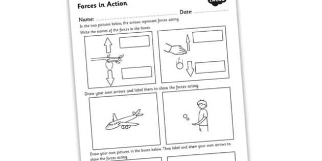 Calculating force Worksheet and forces In Action Worksheet forces forces and Motion forces