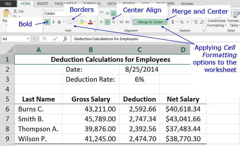 Calculating Gross Pay Worksheet and Microsoft Excel Basic Tutorial for Beginners