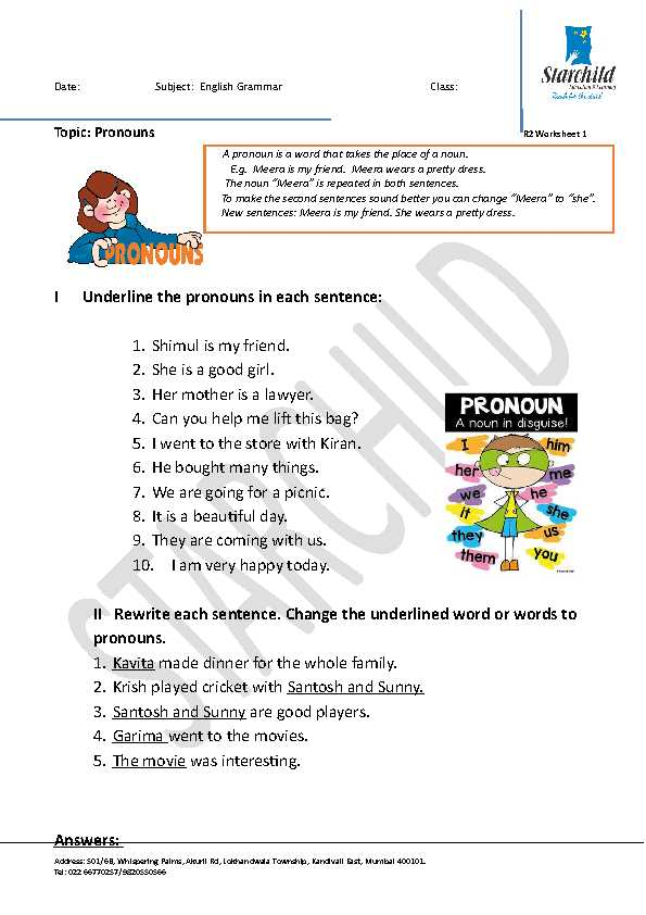Changing Statements Into Questions Worksheets with Answers as Well as 159 Free Personal Pronouns Worksheets