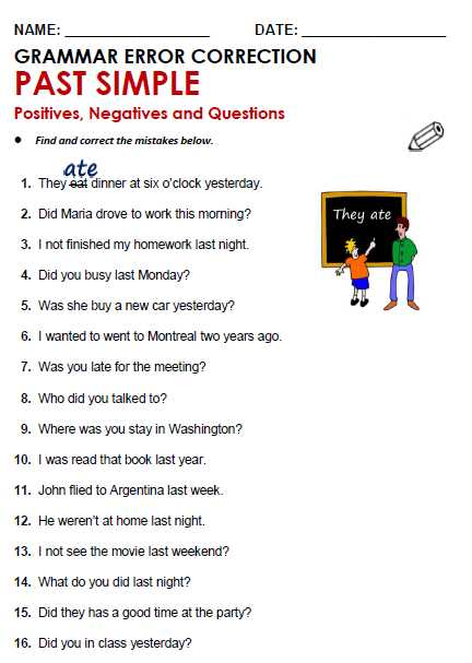 Changing Statements Into Questions Worksheets with Answers with Past Simple All Things Grammar