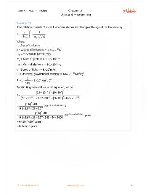 Chapter 13 Universal Gravitation Worksheet Answers as Well as Ncert solutions for Class 11 Physics Chapter 2 Units and Measurement