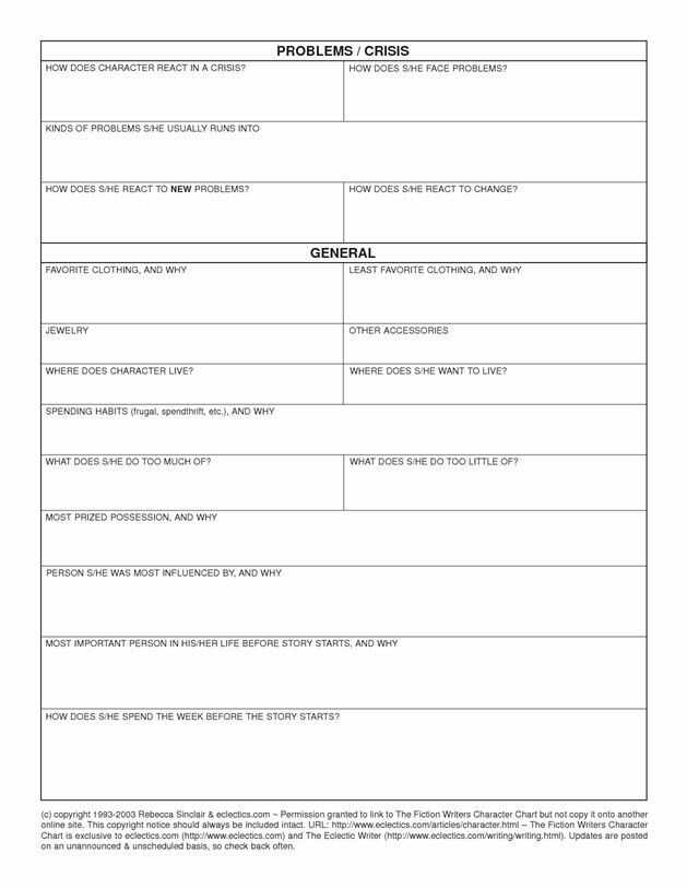 Character Profile Worksheet Along with 8 Best Character Worksheet Thing Images On Pinterest