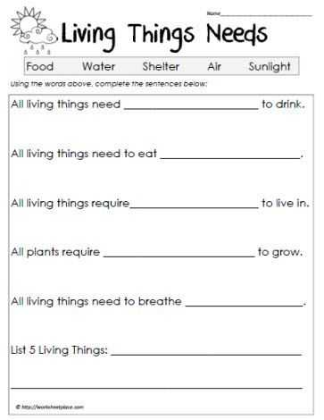 Characteristics Of Living Things Worksheet and Science Worksheets Living Vs Non Living Worksheets