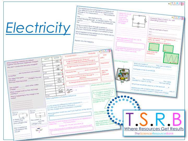 Charge and Electricity Worksheet Answers with Igcse Physics Section 2 Electricity Worksheets by