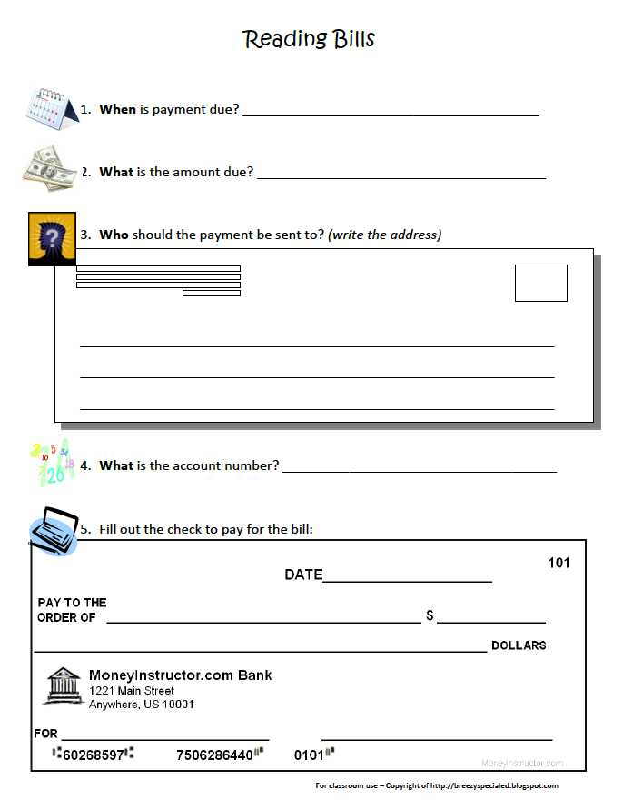 "Check Your Checkbook Skills Worksheet Along with Free Misc Lesson ""paying Bills Simple Worksheet"" Go to the"