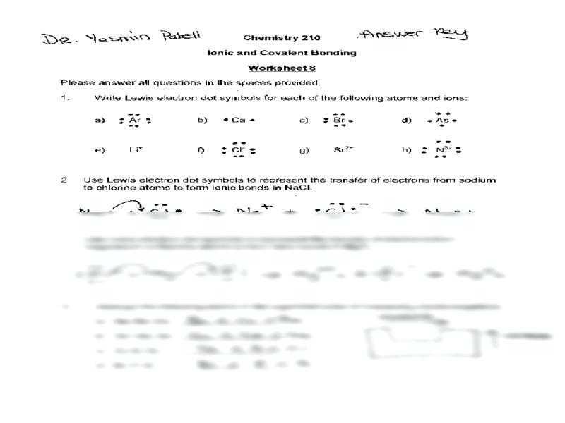 Chemical Bonding Worksheet Answers with Worksheets 42 Best Ionic Bonding Worksheet High Definition