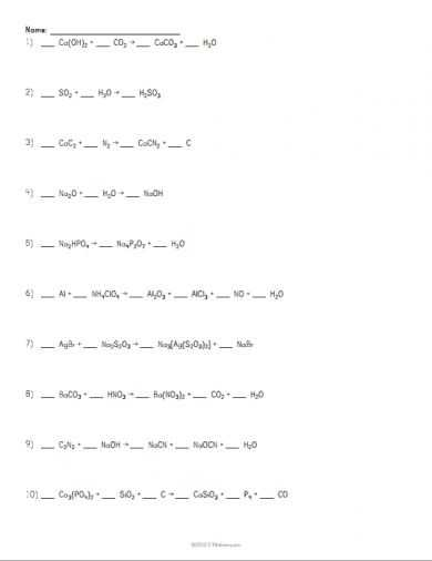 Chemistry Balancing Chemical Equations Worksheet Answer Key or 183 Best Physical Science Images On Pinterest