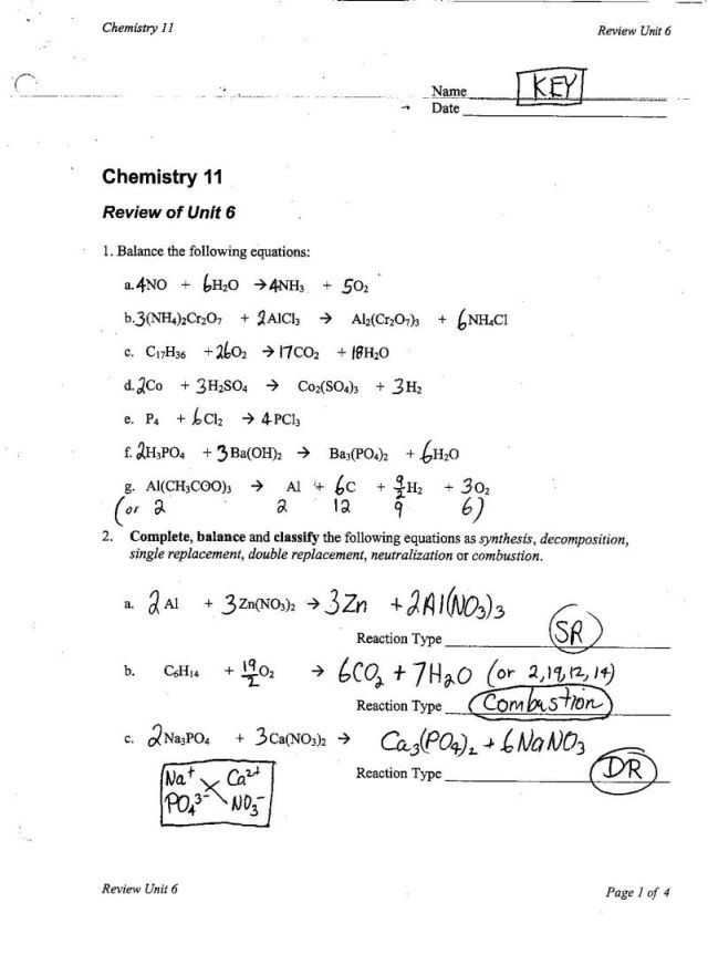 Chemistry Types Of Chemical Reactions Worksheet Answers as Well as Types Chemical Reactions Worksheet Unique Chemical Word Equations