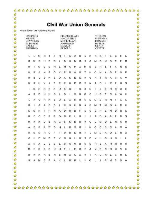 Civil War Causes Worksheet Answer Key together with Civil War Word Search Packet Includes Answer Keys