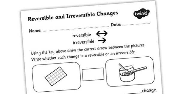 Climate Change Worksheet Along with Changing States Reversible Irreversible Changes Worksheet