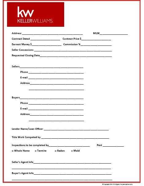 Closing Cost Worksheet Also Prospecting for Real Estate Kit Real Estate form