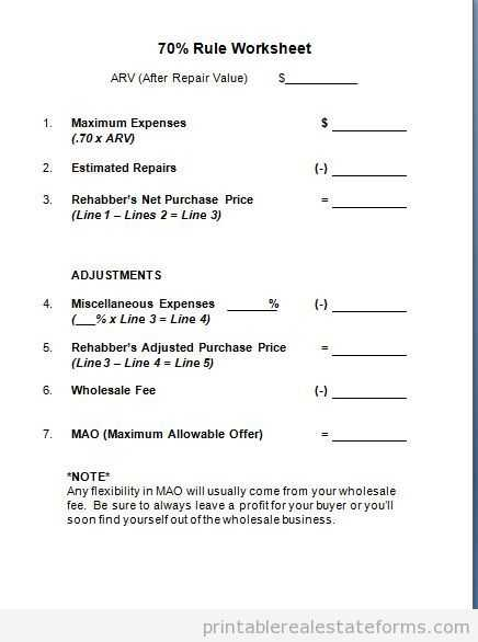 Closing Cost Worksheet or Land Contract Worksheet Kidz Activities
