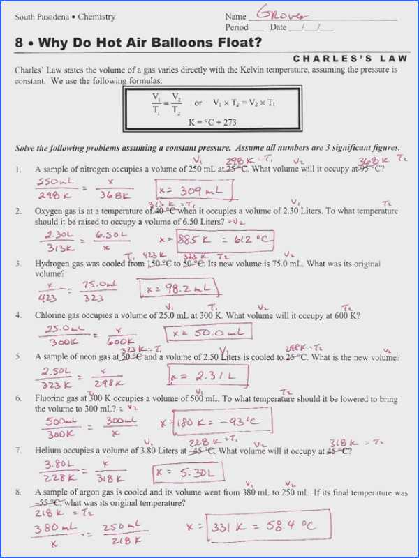 Combined Gas Law Problems Worksheet Also Gas Laws Worksheet 2 Boyle Charles and Bined Gas Laws Image