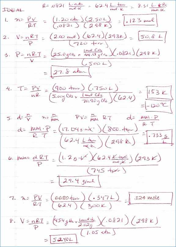 Combined Gas Law Problems Worksheet as Well as Ideal Gas Law Powerpoint