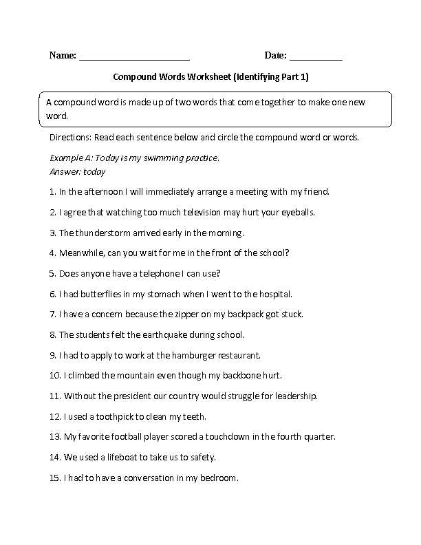 Combining Sentences 4th Grade Worksheets Along with Identifying Pound Words Worksheet Education