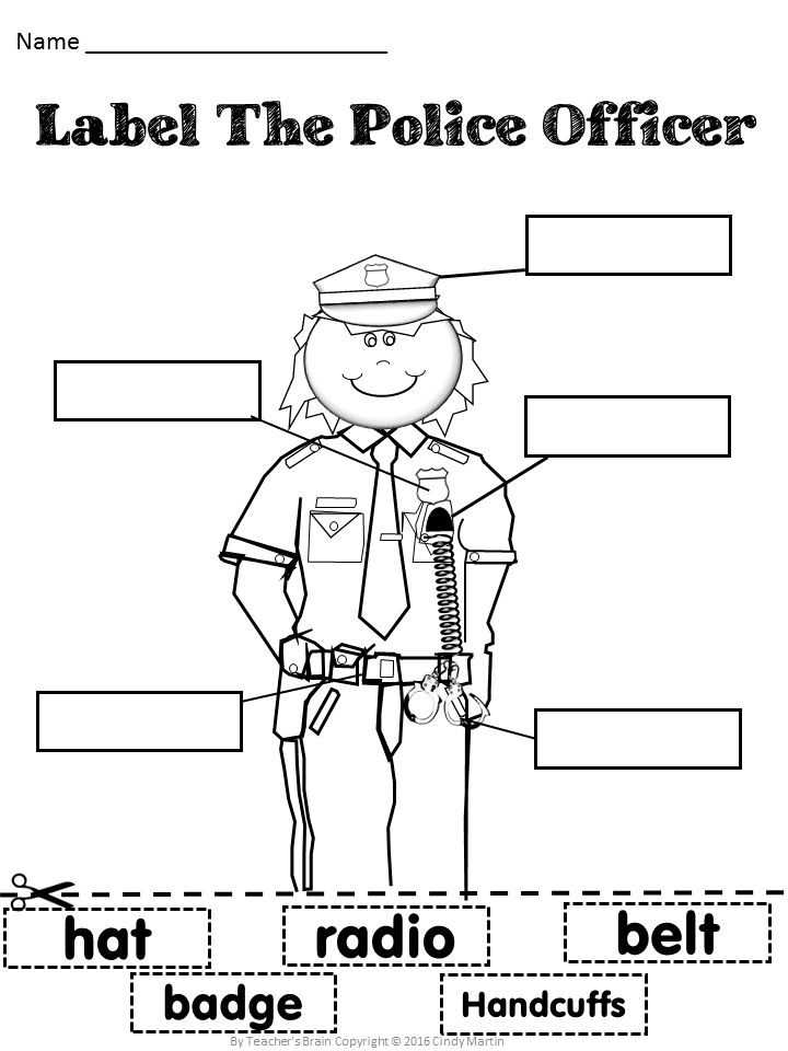 Community Helpers Police Officer Worksheet together with 709 Best Munity theme Images On Pinterest
