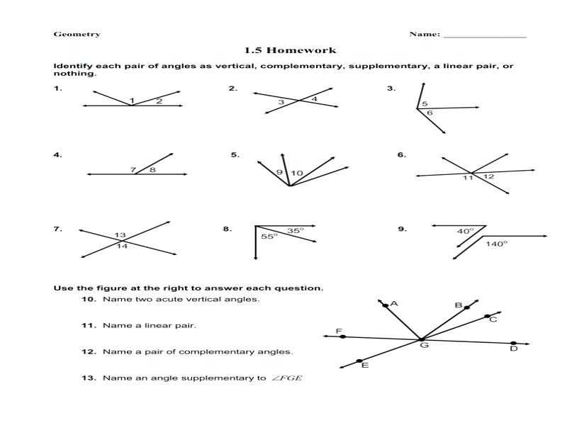 Complementary and Supplementary Angles Worksheet Answers Along with Plementary and Supplementary Worksheet Kidz Activities