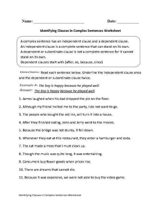 Compound and Complex Sentences Worksheet Also 29 Best Language Images On Pinterest