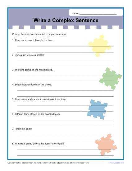 Compound and Complex Sentences Worksheet and Hypotaxis In English Sentence Structure