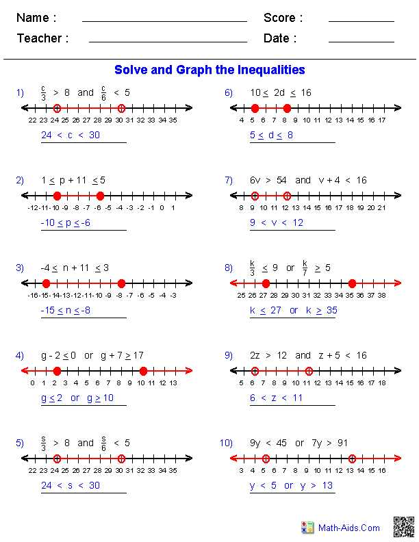 Compound Inequalities Word Problems Worksheet with Answers Along with Fresh Pound Inequalities Worksheet Elegant solving and Graphing