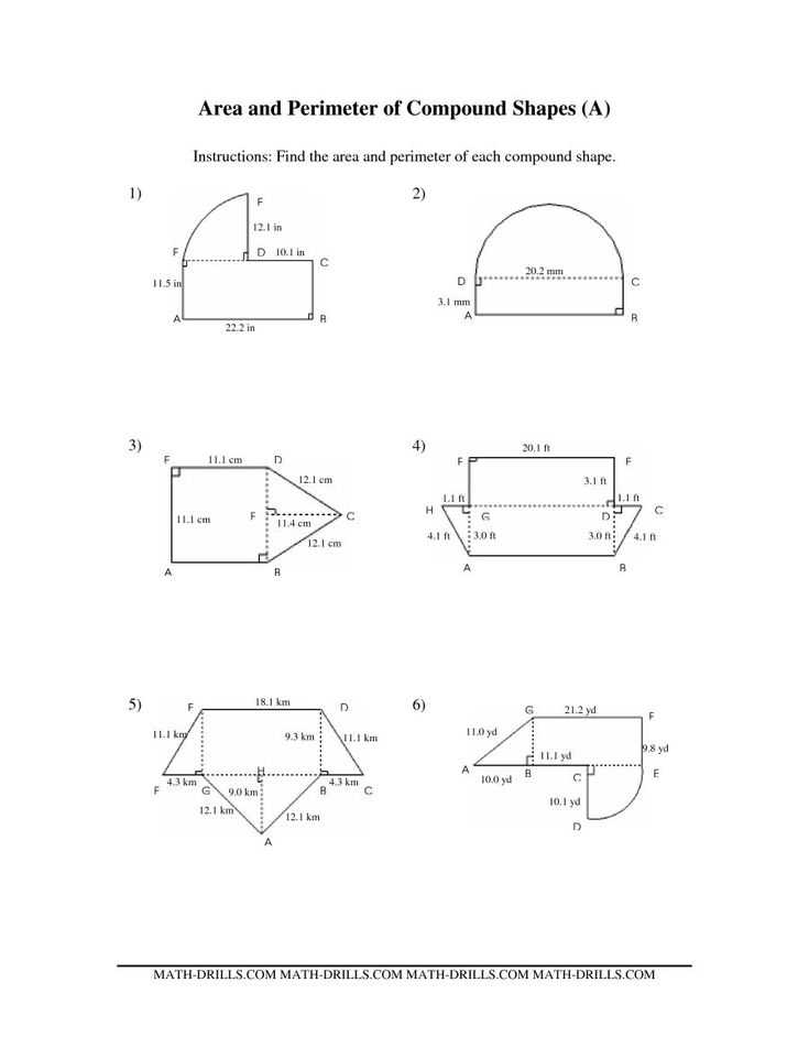 Compound Shapes Worksheet Answer Key Along with 922 Best Geometria Images On Pinterest