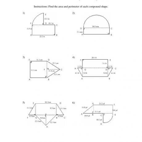 Compound Shapes Worksheet Answer Key Also Pound Shapes area Worksheet Free Worksheets Library Math
