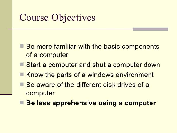Computer Basics Worksheet Section 8 with Puter Basics 101 Slide Show Presentation