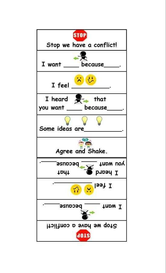 Conflict Resolution Worksheets together with 22 Best Rsl Training Conflict Res Images On Pinterest