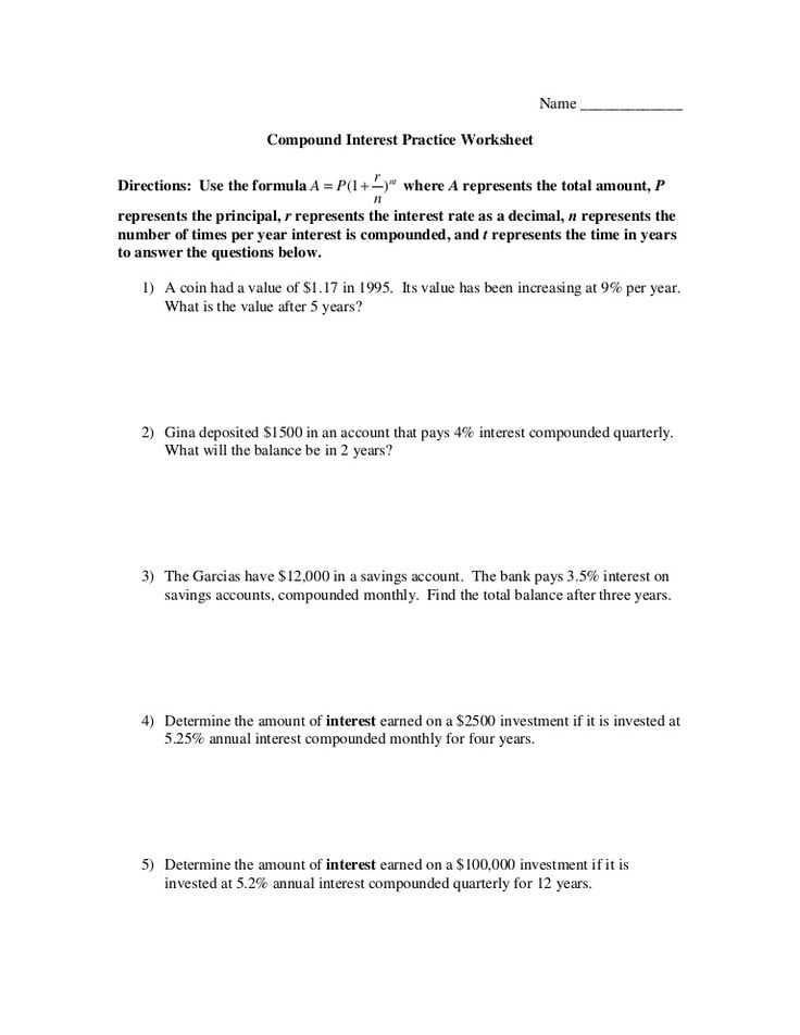 Continuous Compound Interest Worksheet with Answers Also 10 Best Geft Images On Pinterest