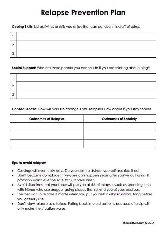 Coping Skills for Substance Abuse Worksheets with 37 Best Relapse Prevention Images On Pinterest