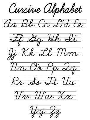 Cursive Alphabet Worksheets Pdf Along with A Lost Art Cursive Alphabet Worksheet Calligraphy