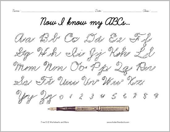 Cursive Alphabet Worksheets Pdf as Well as Alphabet Cursive Worksheets Free Printable