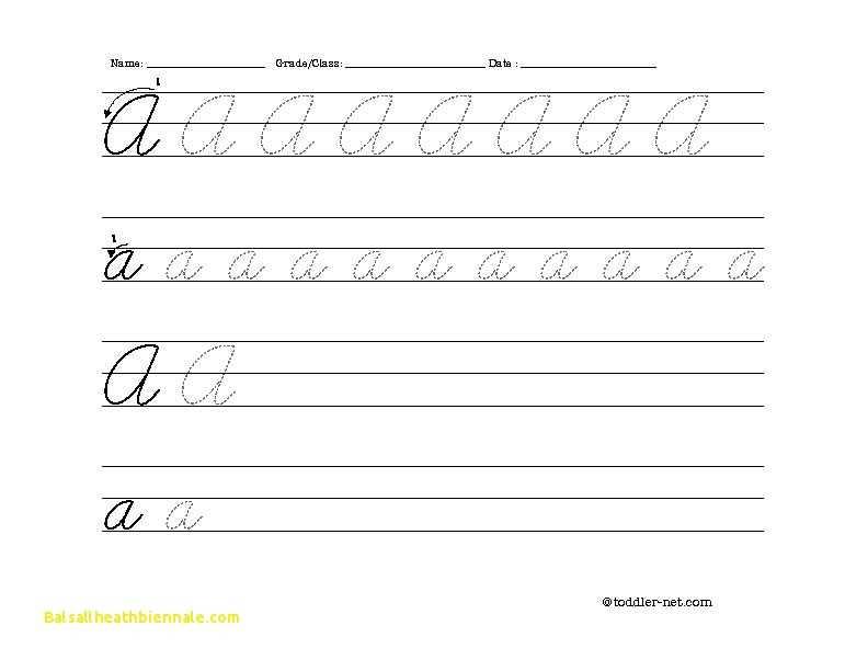 Cursive Alphabet Worksheets Pdf or Fresh Writing A Letter Worksheet Pdf