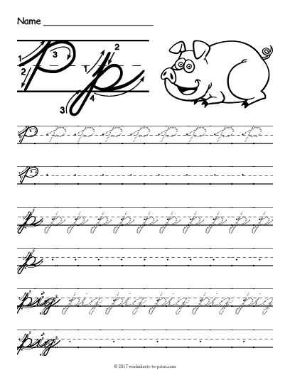 Cursive Writing Worksheets for Kids and 27 Best Cursive Writing Worksheets Images On Pinterest